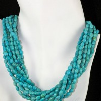 10-strand American Turquoise Necklace
