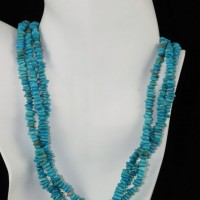 Three Strand Sleeping Beauty Turquoise Necklace