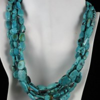 Five Strand American Turquoise Necklace