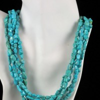 Five Strand Sleeping Beauty Turquoise Necklace