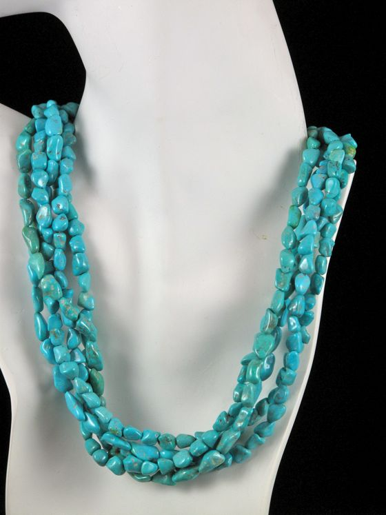 Five Strand Sleeping Beauty Turquoise Necklace Toni