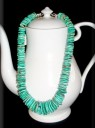 American Turquoise Disks Necklace