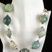 Large Agate Nugget Necklace
