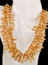 3 Strand Fresh Water Pearl &#038; Citrine Necklace