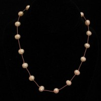 Floating Fresh Water Pearl Necklace
