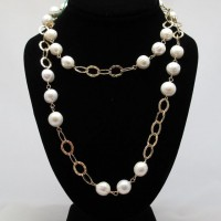 Fresh Water Pearl With Gold Necklace