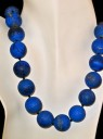 Round Lapis Necklace