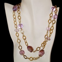 Amethyst & Gold Necklace