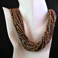 Eleven Strand Fresh Water Pearl Necklace