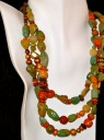 Turquoise, Carnelian, Wood & Coral Necklace