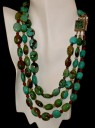 Three Strand Turquoise w/ Amethyst Necklace