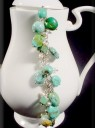 Turquoise, Swarovski, &#038; Pearl Bracelet