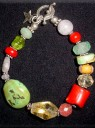Stones & Antique Bead Bracelet
