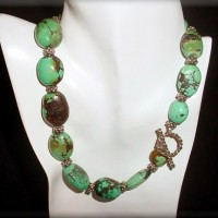 Natural Chinese Turquoise Oval Necklace