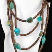 Coco Shell with Turquoise Necklace