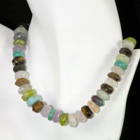 Faceted Assorted Rondel Necklace