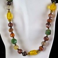 Green Turquoise and Carnelian Necklace