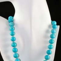 Blue Round Turquoise Necklace