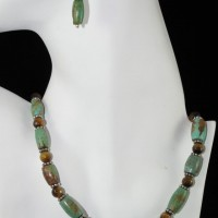 Tube Turquoise w/Tiger Eye Necklace