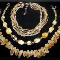 5 Strand Citrine & Fresh Water Pearl Necklace