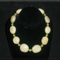 Oval Lime Turquoise Necklace