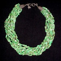 Chrysoprase Small Nugget Necklace