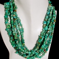 Eight Strand Turquoise Nugget Necklace