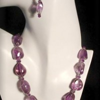 Faceted Nugget Amethyst Necklace