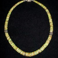 Gaspeite Graduated Heishi Necklace