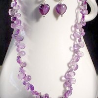 Flat Amethyst Briolette Necklace